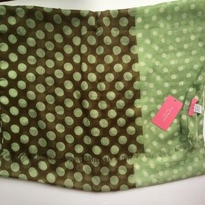 [Isaac Mizrahi] Scarf Wrap Polka Dots Brown Green